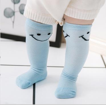 ถุงเท้ายาว สีฟ้า แพ็ค 10 คู่ ไซส์ S (อายุประมาณ 0-6 เดือน)
