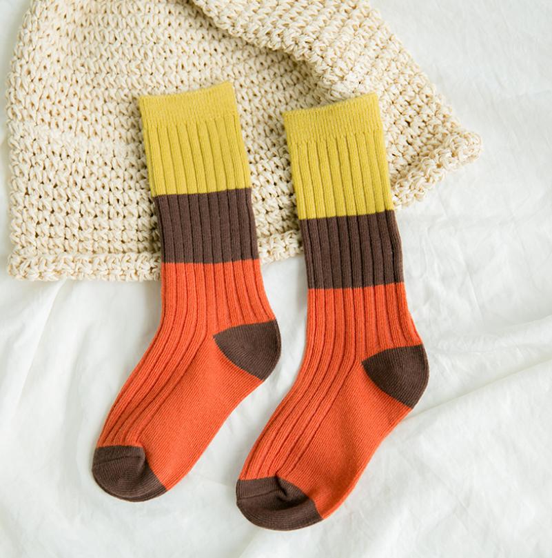 ถุงเท้ายาว แบบที่3 แพ็ค 12คู่ ไซส์ S (ประมาณ 1-3 ปี)
