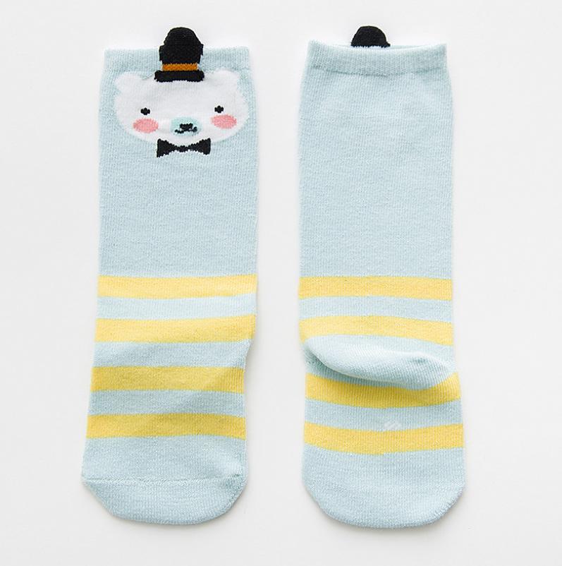 ถุงเท้ายาว สีฟ้า แพ็ค 10 คู่ ไซส์ S (อายุประมาณ 0-1 ปี)