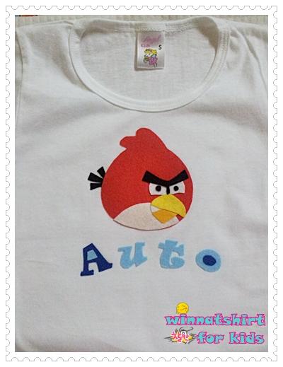 เสื้อยืดเด็ก ลาย Angry Birds Size L