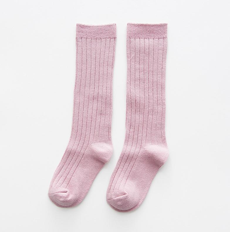 ถุงเท้ายาว สีม่วง แพ็ค 10 คู่ ไซส์ M (ประมาณ 2-4 ปี)