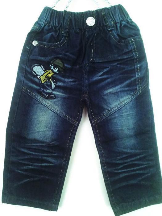 J1136 กางเกงยีนส์เด็กชาย ดีไซส์ลายปักเท่ห์ทั้งด้านหน้า-หลัง เอวยางยืด Size 4-6 ขวบ ขายปลีกในราคาส่งให้เลยจ้า