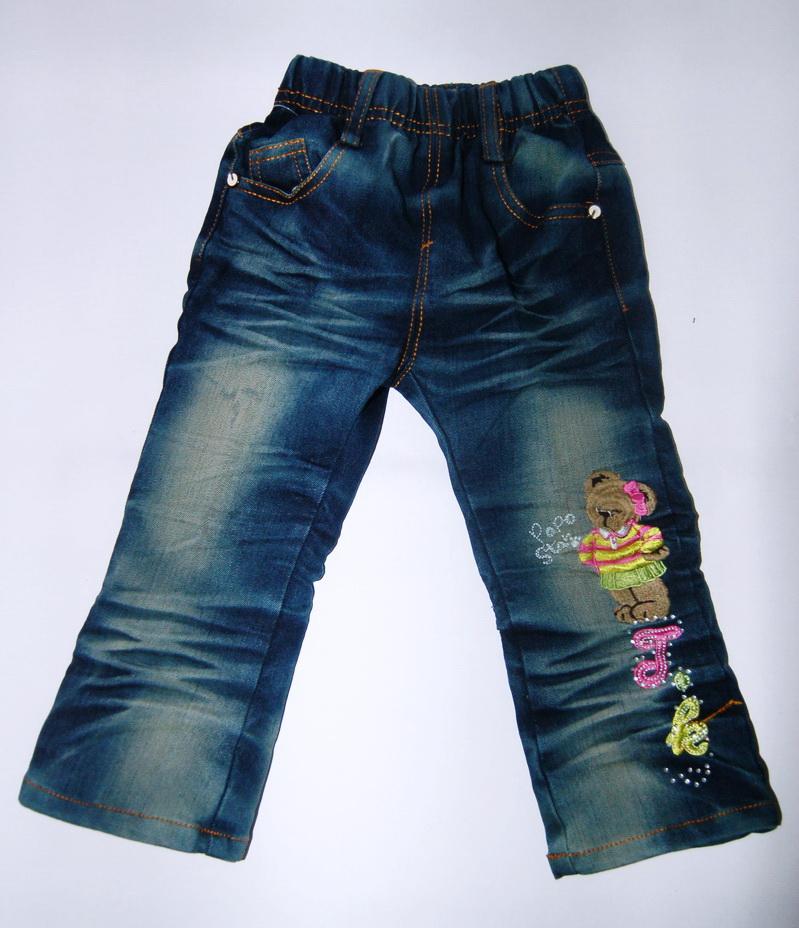 CNJ025 กางเกงยีนส์ เด็กหญิง ขายาว ผ้าฟอกอัดยับ ผ้านิ่มใส่สบาย แต่งลายเก๋ ๆ ปักเลื่อม กระเป๋าหลังสองข้าง Size 15/16/17/18