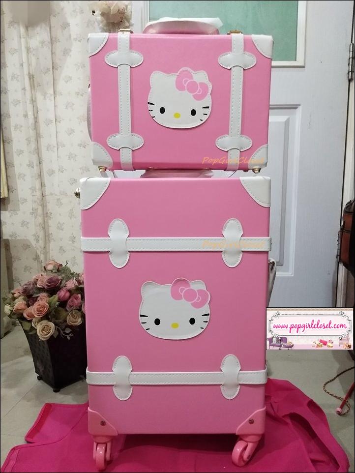 คิตตี้พร้อมส่ง!!!! กระเป๋าเดินทางวินเทจ Kitty Beauty และ กระเป๋าเดินทางวินเทจล้อลาก Kitty Suitcase ไซส์ 20 นิ้ว