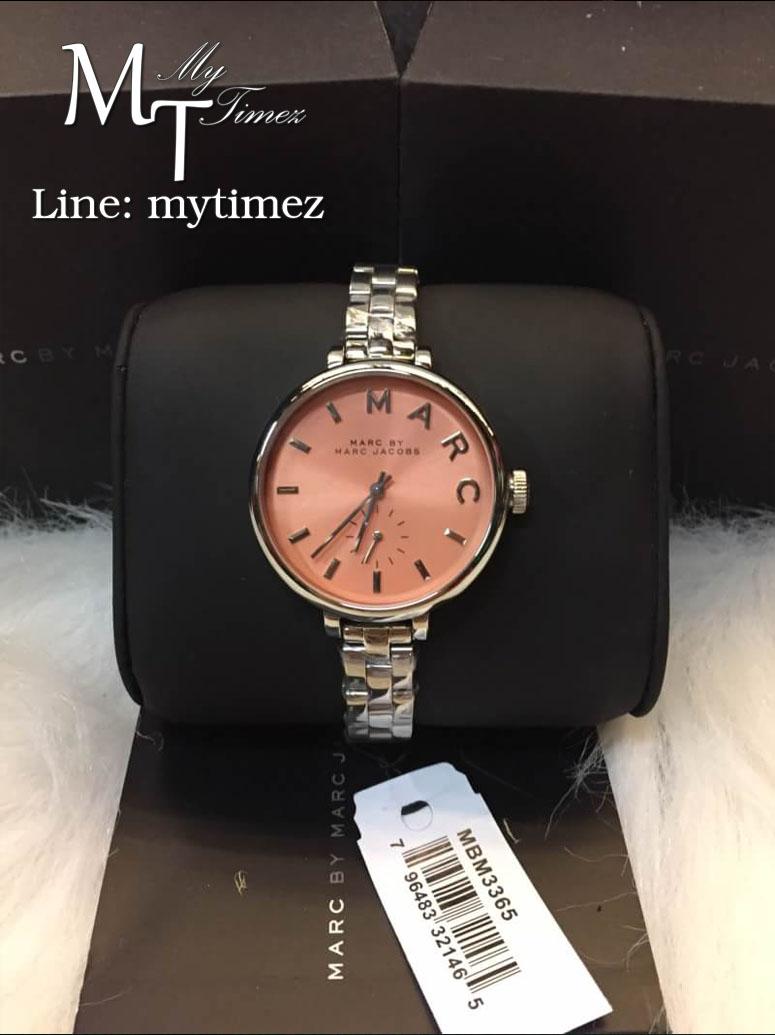นาฬิกาข้อมือ MARC BY MARC JACOBS Slim Baker Peach Dial Stainless MBM3365