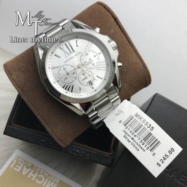 MICHAEL KORS Bradshaw Chronograph Silver-tone Ladies Watch MK5535