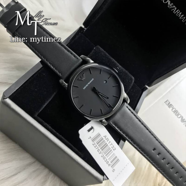 EMPORIO ARMANI Classic Black Dial Men's Watch AR1732