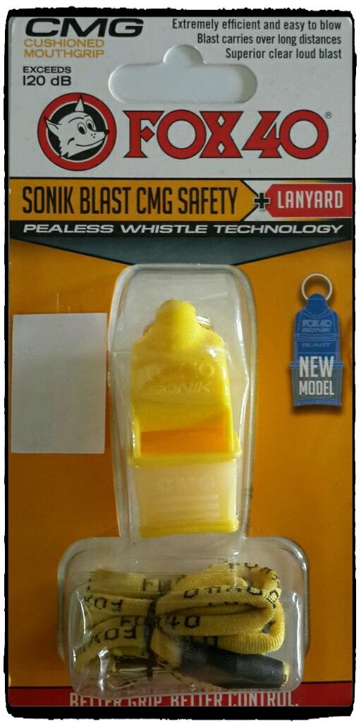 นกหวีด FOX 40 Sonik Blast CMG สีเหลือง NEW MODEL