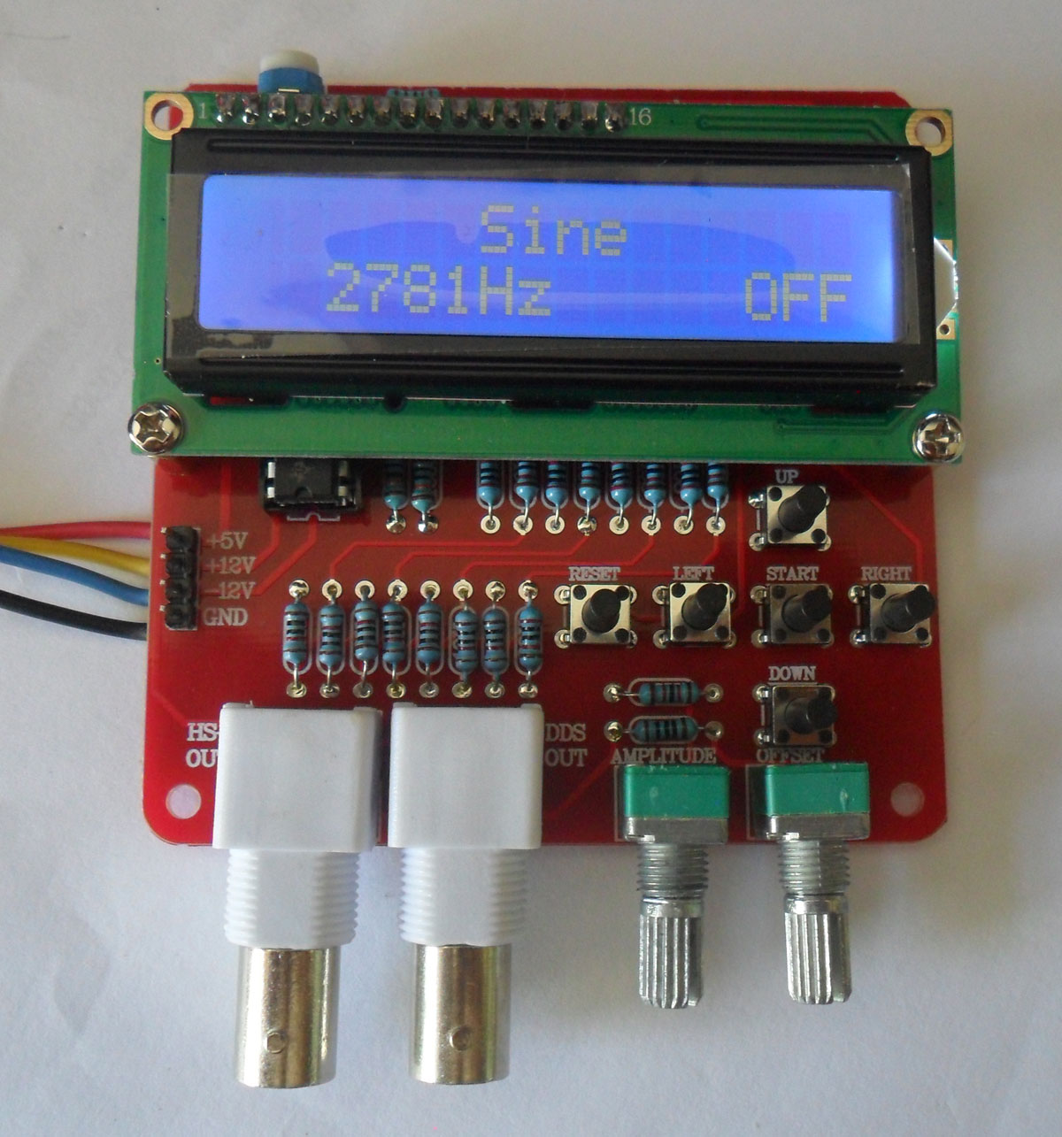 ชุดคิทวงจรกำเนิดความถี่เสียง แบบ DDS ( 1 ถึง 65.535 KHz)