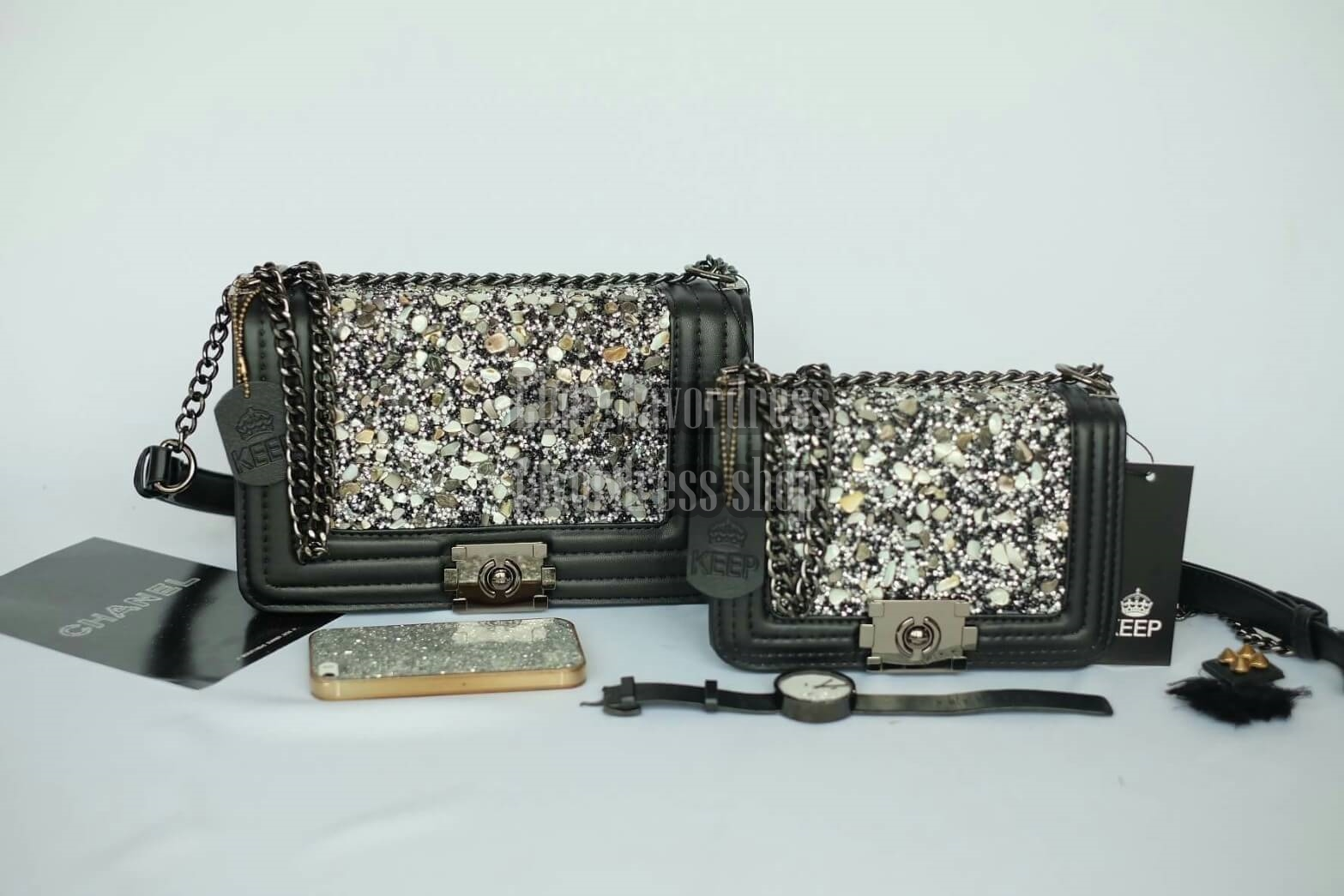 KEEP ทรง Chanel สุดหรู รุ่น KEEP shoulder diamond chain bag