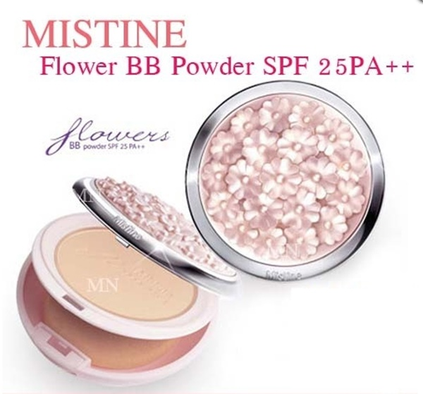 Mistine Flowers BB Powder SPF 25 PA++ แป้งพัฟ มิสทีน ฟลาวเวอร์ บีบี พาวเดอร์ เอสพีเอฟ 25 พีเอ++