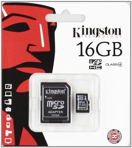16 GB MICRO SD CARD KINGSTON CLASS 4