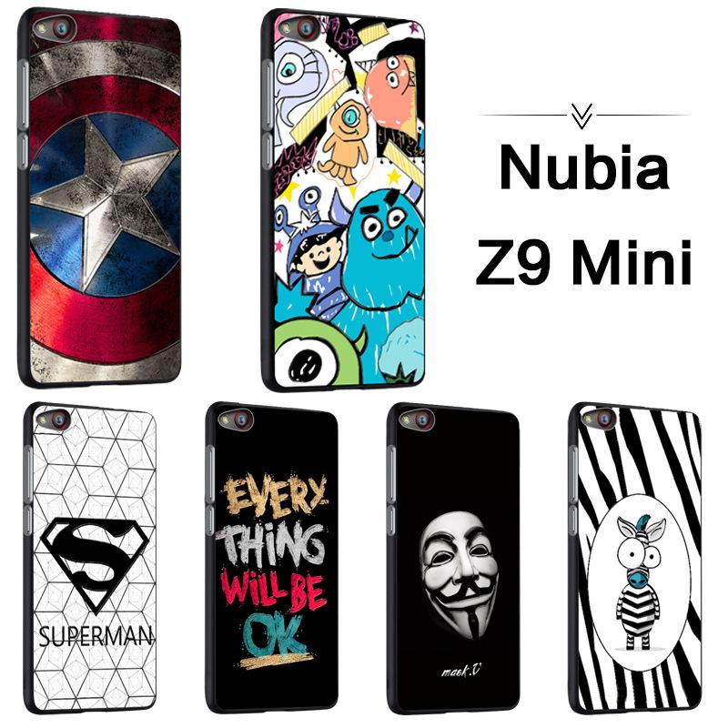 Nubia Z9 mini เคสนิ่มTPUสกรีนลายขอบดำ