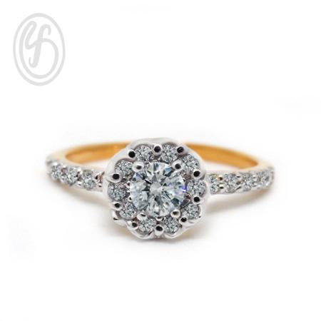 แหวนเงินผู้หญิง เงินแท้ เพชรสังเคราะห์ cz เกรด AAA เหมาะเป็นของขวัญในวันพิเศษ แหวนแมั้น แหวนแต่งงาน สำเนา