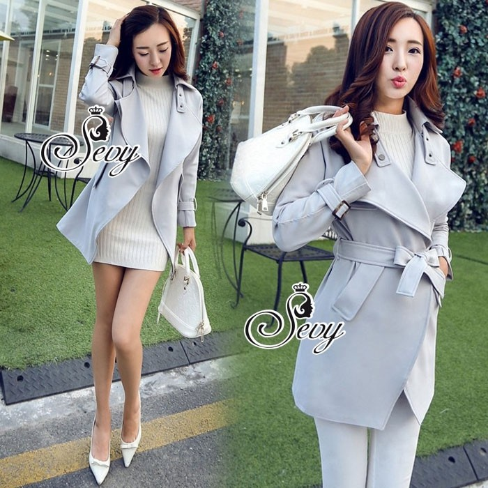 28bb0f9d6a20 Sevy Smart Casual Korean Style Over Coat - PeeyaShop : Inspired by ...