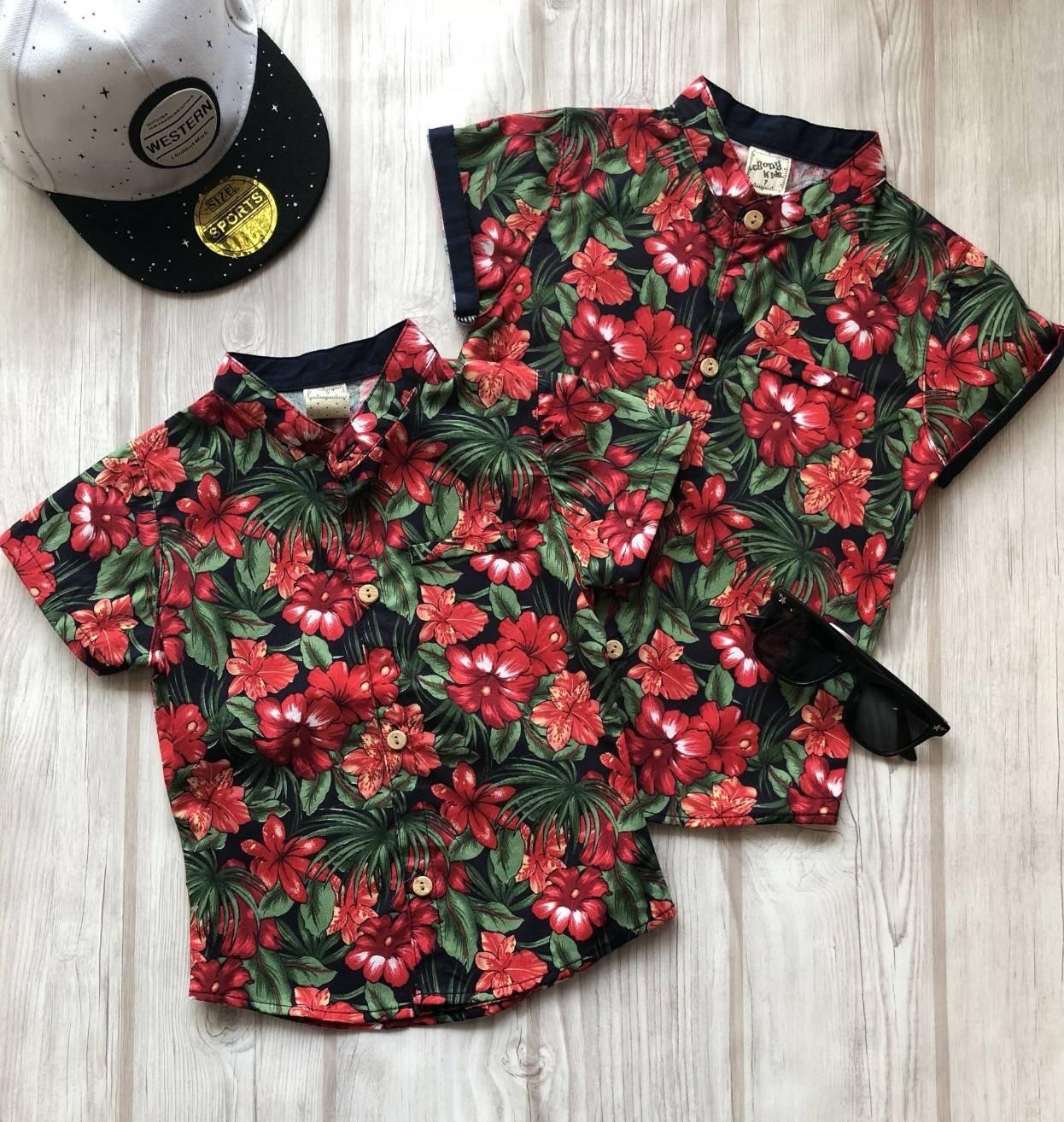 เสื้อคอจีนลายดอก สำหรับเด็ก