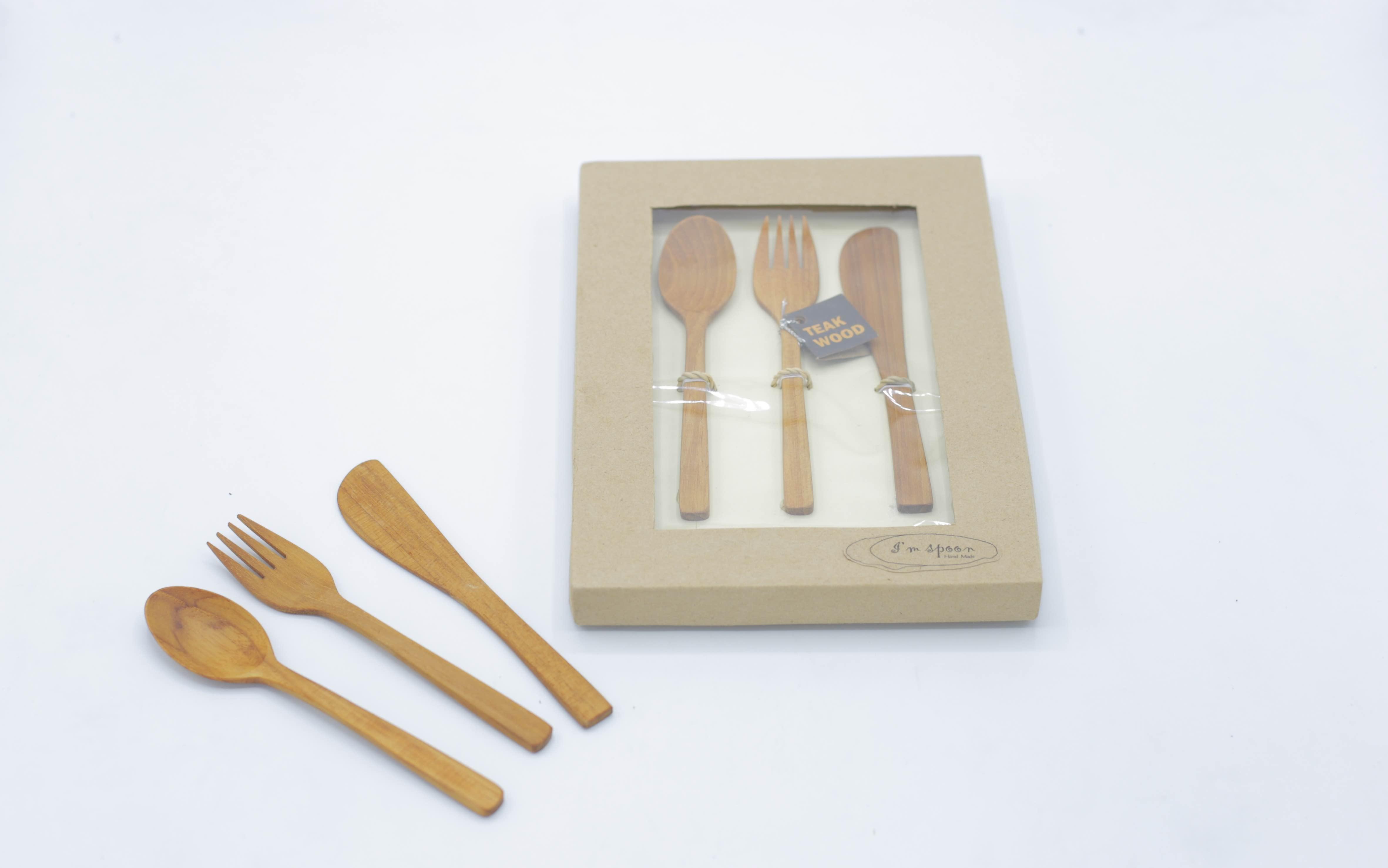 D00055 ชุดช้อนไม้ I am spoon