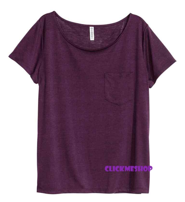 (ไซส์ L หน้าอก 42-44 ยาว 28 นิ้ว) เสื้อยืดคอยู สีเลือดหมู ยี่ห้อ. H&M มีกระเป๋าที่อกเสื้อ เนื้อผ้านิ่มน่ารักคะใส่สบายๆคะ สำเนา
