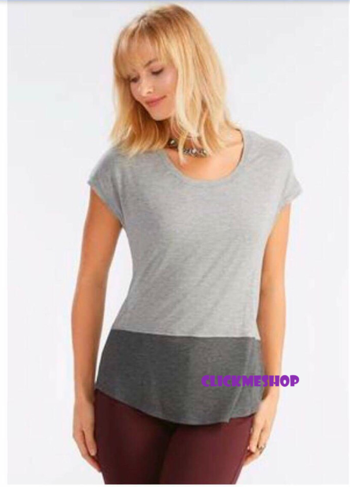 (ไซส์ L หน้าอก 42-44 ยาว 27 นิ้ว) เสื้อยืดคอยู สีเทา ยี่ห้อ cato ชาสเสื้อมีสลับสี ทรงแขนสั้น มีเว้าช่วงด้านหลังน่ารักคะ เนื้อผ้ายืดใส่สบายน่ารัก