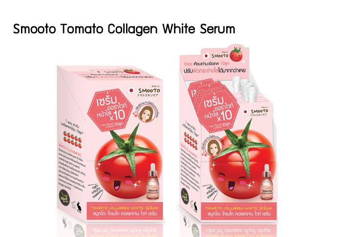 Smooto Tomato Collagen White Serum 6 ซอง/กล่อง