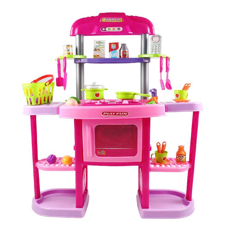 ชุดครัวของเล่นเด็กใหญ่ ๆ kitchen play set ของ play at home ส่งฟรี