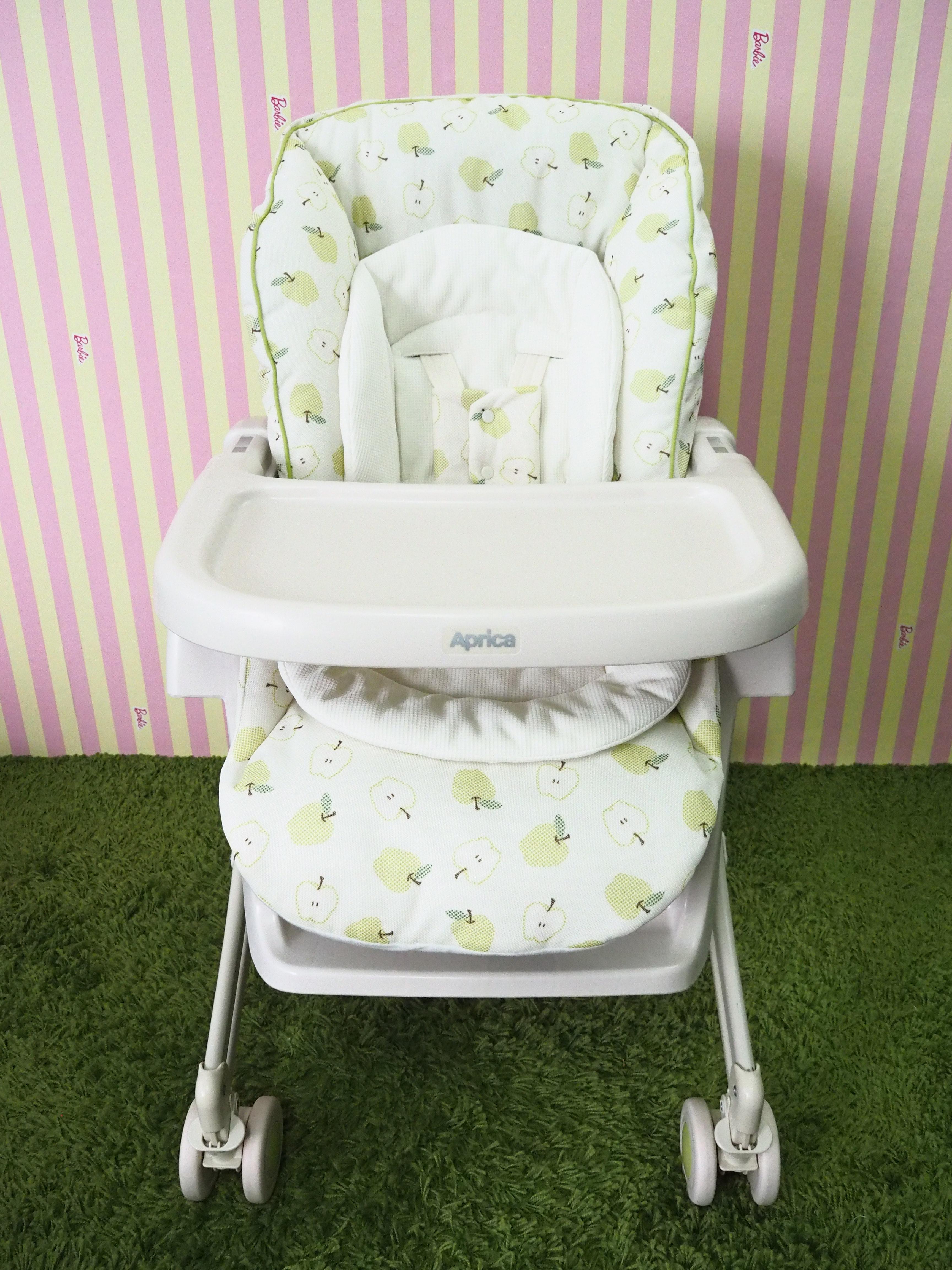 High Chair Aprica (เปลไกว+เก้าอี้ทานข้าว) ลายแอปเปิ้ล