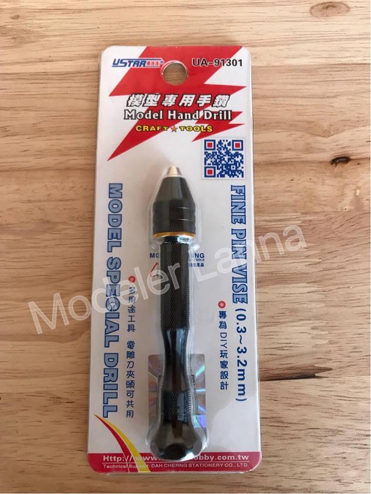 USTAR U-STAR TOOLS 91301 0.3-3.2mm Fine Pin Vise Model hand Drill