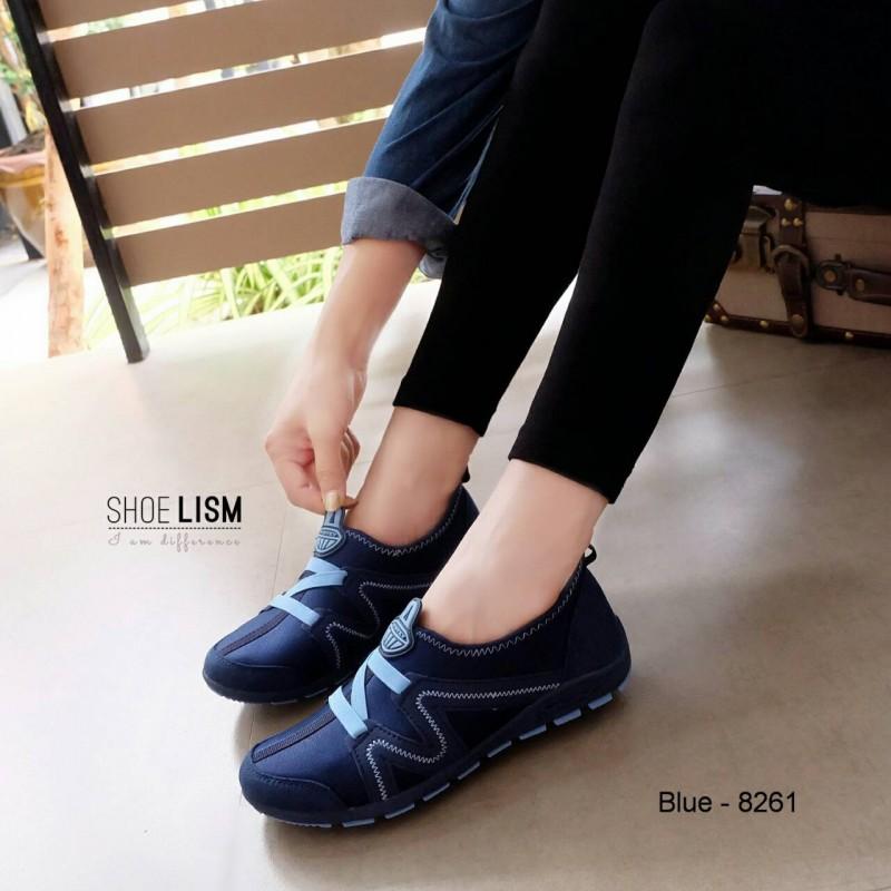 ผ้าใบเกาหลี soft&comfort ยางยืด z พื้นถอดได้(ผ้าใบยืด)