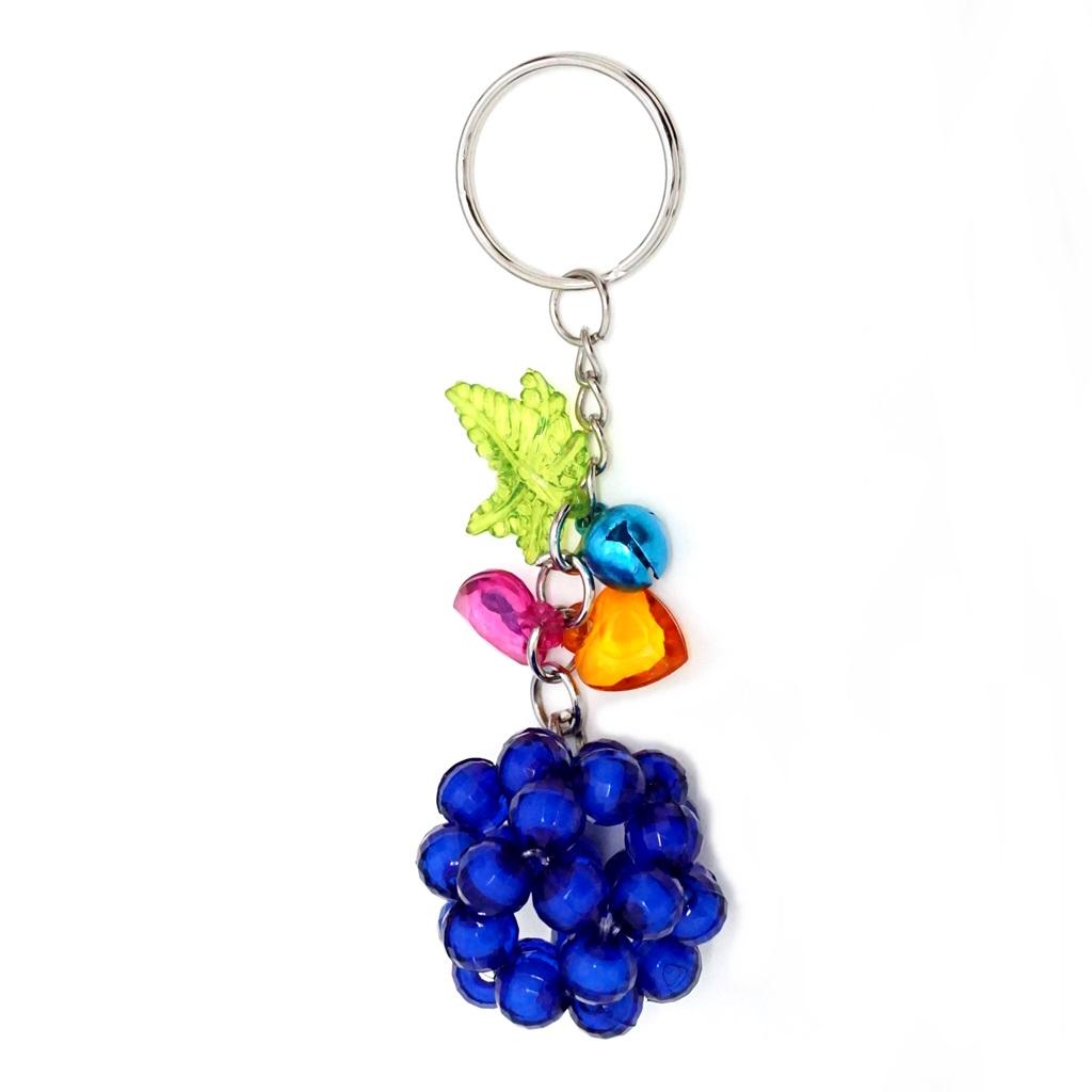 พวงกุญแจลูกปัด สีน้ำเงิน 12อัน