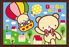 "LC101 ภาพระบายสีตามตัวเลข ""หมีน้อยนั่งบอลลูน"""