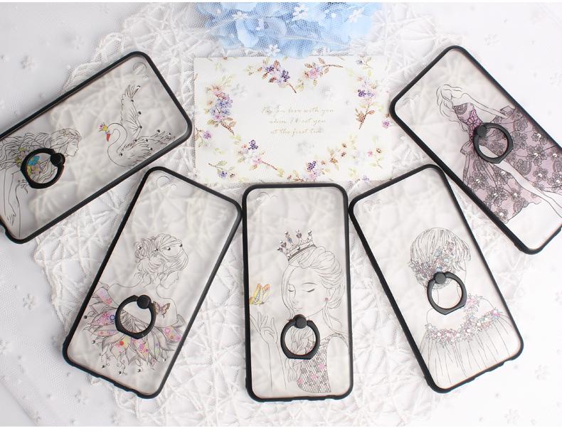 (025-258)เคสมือถือวีโว่ Vivo V5 Plus เคสขอบยางพื้นหลังพลาสติกใสลายผู้หญิง