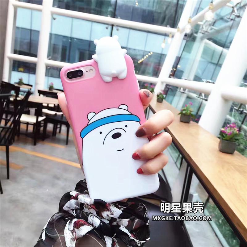 (พร้อมส่ง)เคสมือถือไอโฟน Case iPhone 7 Plus เคสนิ่มหมี 3D สามสไตล์