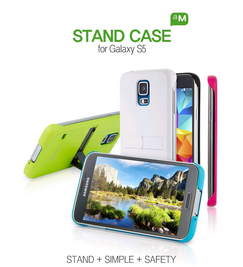 ANYMODE : Stand Polycarbonate Fitted Case for Samsung Galaxy S5, SV, G900