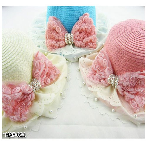 HAF-021 หมวกสาน (2-7 ขวบ / คุณแม่)