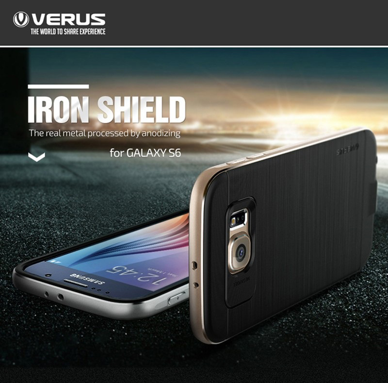 Verus : Iron Shield Metal Frame Cover For Samsung Galaxy S6
