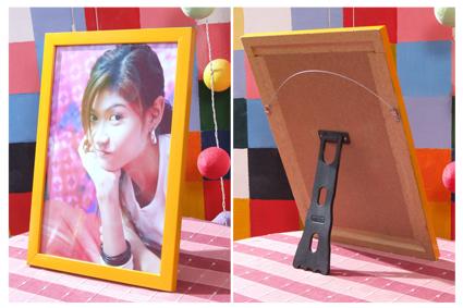 002-อัดขยายรูปและเข้ากรอบคิ้วไม้ 8x12 นิ้ว