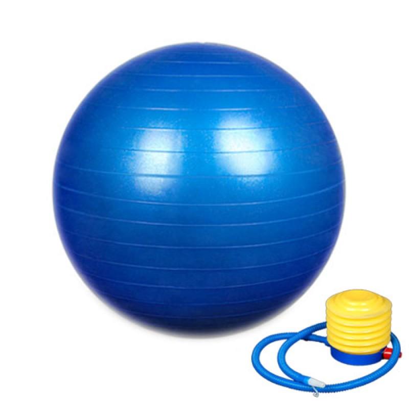 หุ่นเฟิร์ม เป็นคนใหม่ด้วยลูกบอลโยคะ (Fitness Ball) ขนาด 55cm สีน้ำเงิน