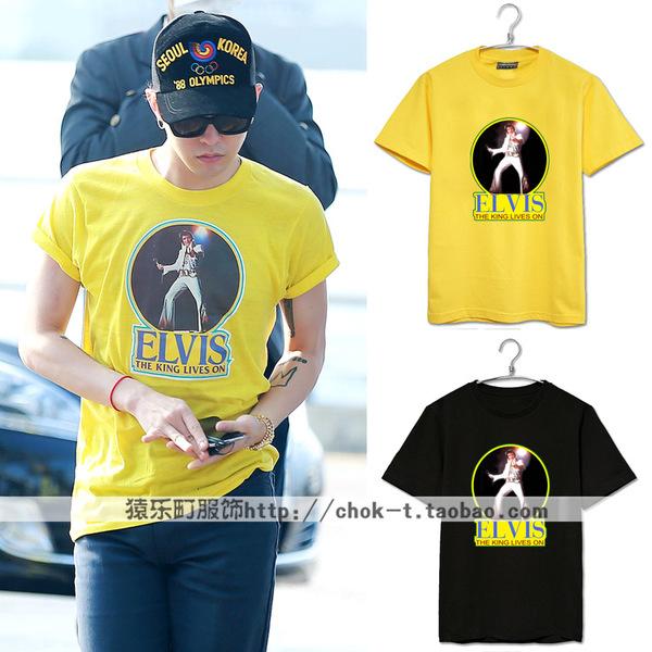 เสื้อยืด G-Dragon ELVIS -ระบุสี/ไซต์-