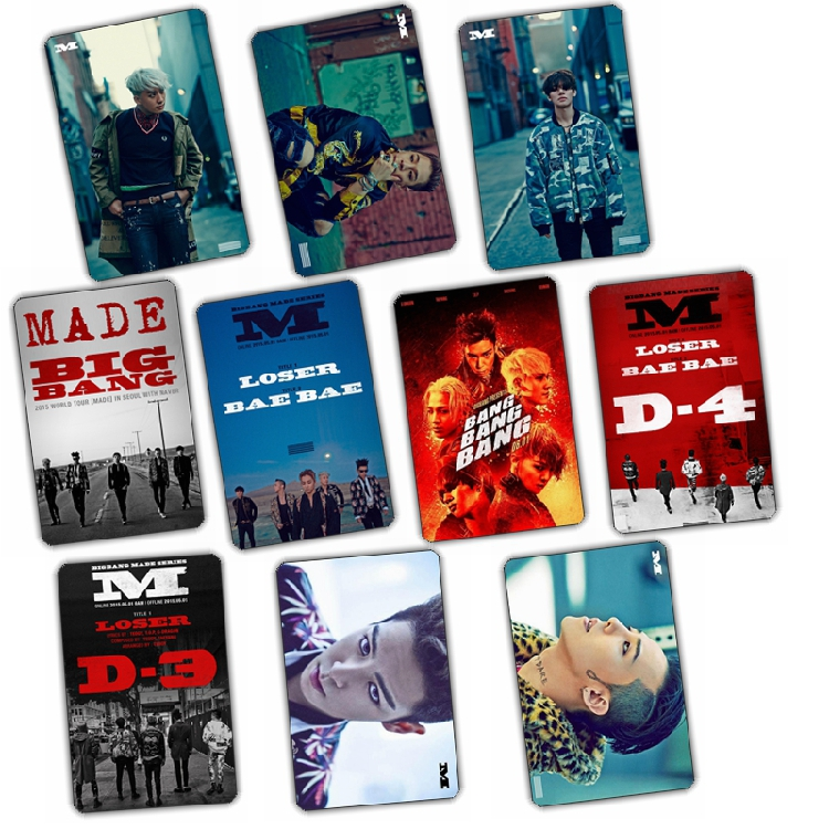 Sticker Card set BIGBANG MADE (10pc)