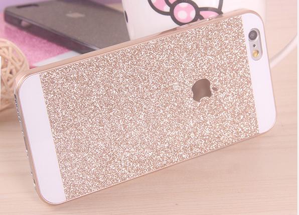 เคสไอโฟน 6 Plus / 6s Plus เคสไอโฟน Hard Case กากเพชรสีทอง
