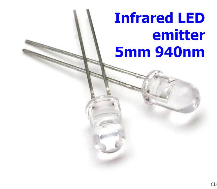 Infrared LED emitter 5mm 940nm