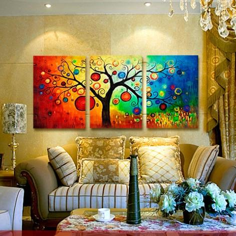 ภาพต้นแอปเปิ้ล แวนโก๊ะสไตล์ art100