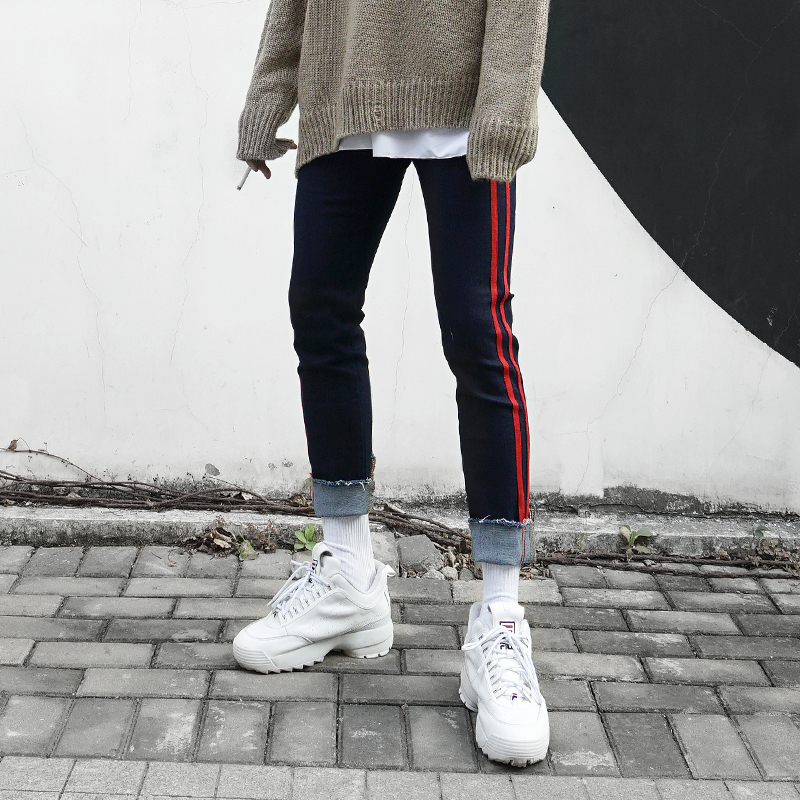 *Pre Order*Denim Slim feet กางเกงยีนส์สกินนี่ แฟชั่นญี่ปุ่น size XL-2XL