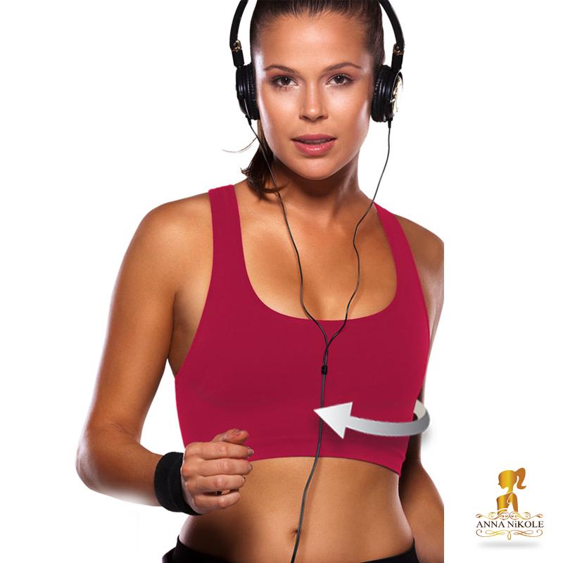 ชุดออกกำลังกายลดกระชับแบบเสื้อครึ่งตัวลดกระชับ Size S สีชมพู (คัพA/B 30-34)
