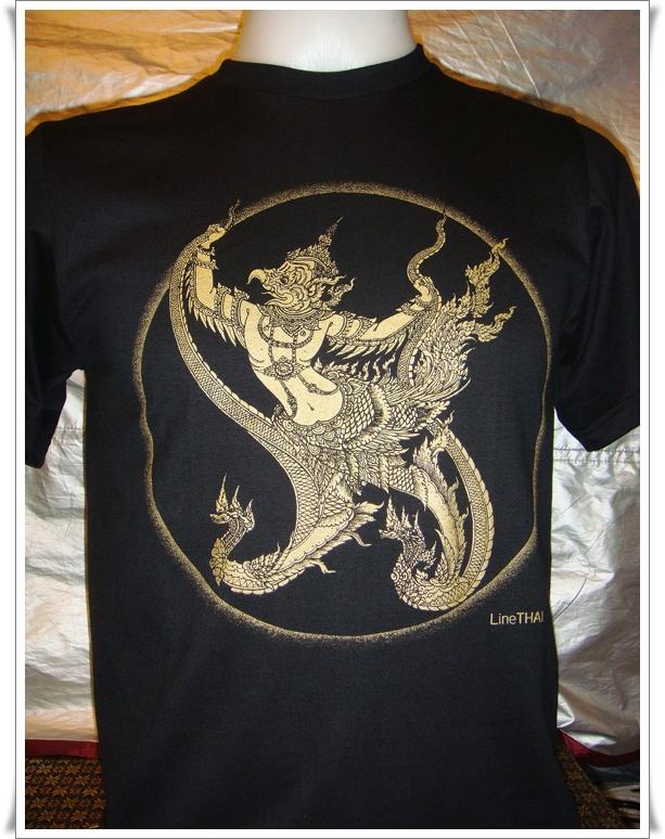 ลายพญาครุฑ size L (T-shirt LineTHAI : Paya Krut)