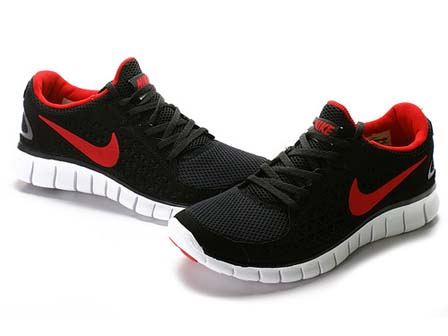 nike free run red and black