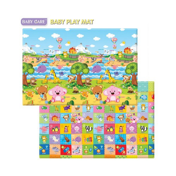 Baby Care Baby Play Mat แผ่นยางรองคลาน Size L แผ่นใหญ่ made in korea 210 x 140 cm สดใส ไร้กลิ่น ไม่ลอกเป็นขุย นุ่ม พับ งอ หัก ได้ ไม่ยับไม่เป็นรอบ ไม่ยุบตัว