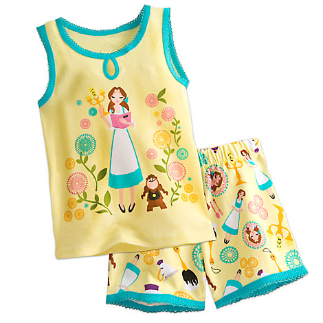 * Belle PJ PALS Short Set for Girls from Disney USA ของแท้100% นำเข้า จากอเมริกา