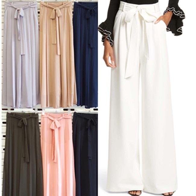 กางเกงแฟชั่น Chiffon Pleated Pants มี 6 สี