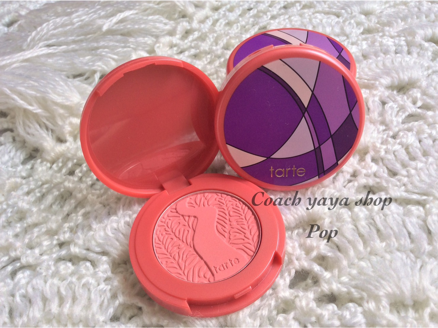 **พร้อมส่ง** Tarte Amazonian Clay 12-hour blush สี pop ขนาดทดลอง 1.5 กรัม ไม่มีกล่อง